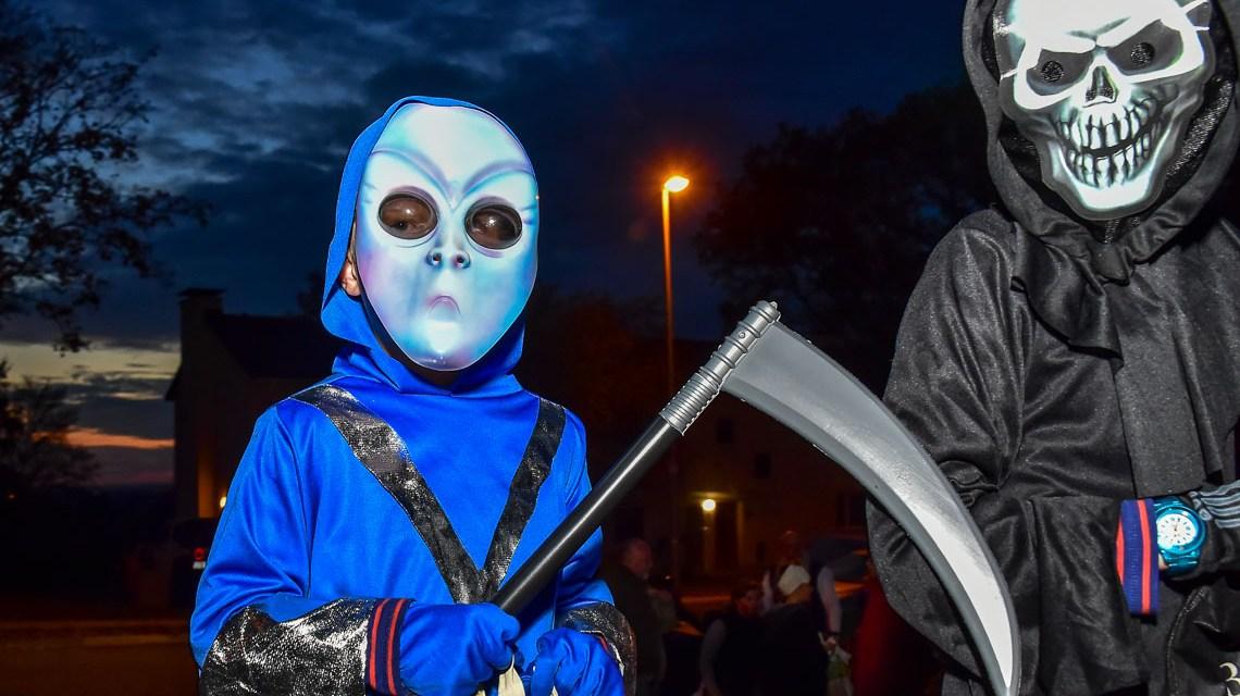 """Halloween: Der Sensenmann im """"Aukamm-Housing"""""""