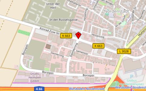 Der Hainweg in Nordenstadt wird erschlossen. ©2018 Openstreetmap