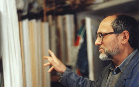 Roman Eichhorn in seinem Atelier ©2018 Wikipedia, Mitree - Eigenes Werk, CC BY-SA 3.0