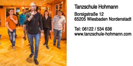 Tanzschule Hohmann | Borsigstraße 12 | 65205 Wiesbaden Nordenstadt | Telefon 06122 / 534 63 | Internet www.tanzschule-hohmann.com