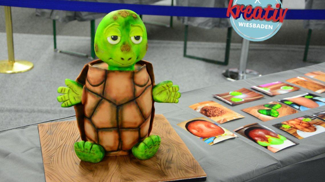 Kreativmesse: Schildkröte oder Torte – was denken Sie? ©2018 Kreativ Wiesbaden