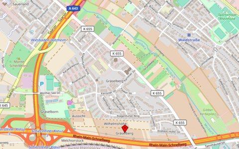 Integrierten Städtebaulichen Entwicklungskonzeptes Gräselberg. ©2018 Open Stree map
