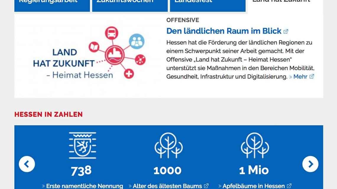 Neues OInformationsportal der Metropolregion FrakfurtRheinMain. ©2018 Land Hessen / Volker Watschounek