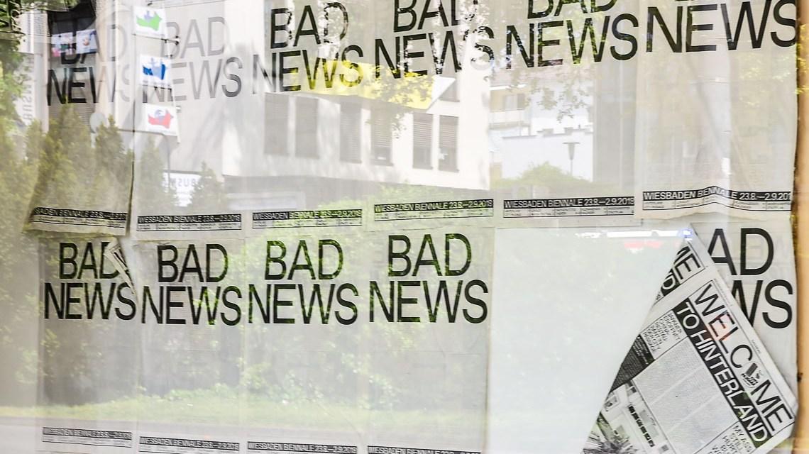 Bad News   Wiesbaden Biennale 2018   23. August bis zum 2. September 2018 ©2018 Volker Watschounek