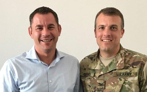 OB Sven Gerich hat den Garnisonskommandeur der US-Streitkräfte Wiesbaden, Col. Noah Cloud empfangen.