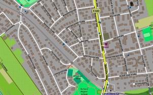 Nassauer Straße in Biebrich @2019 OpenStreetMapx