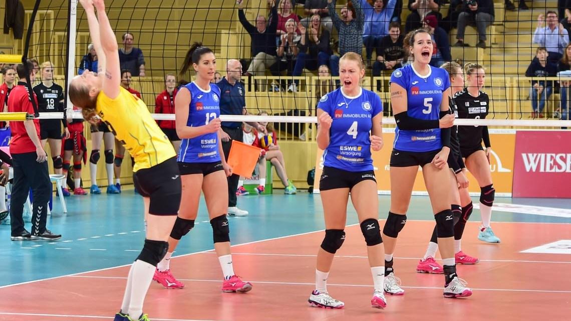 VBL Frauen   Saison 2018/2019   16. Spieltag   VCW - Rote Raben Vilsbiburg   1:3 ©2091 Volker Watschounek