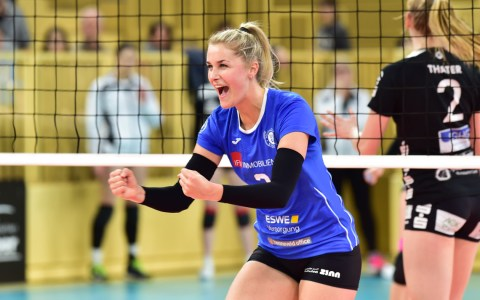 Volleyball Bundesliga Frauen | 2018/2019 | 18. Spieltag | VC Wiesbaden - Schwarz Weiß Erfurt | 3:1