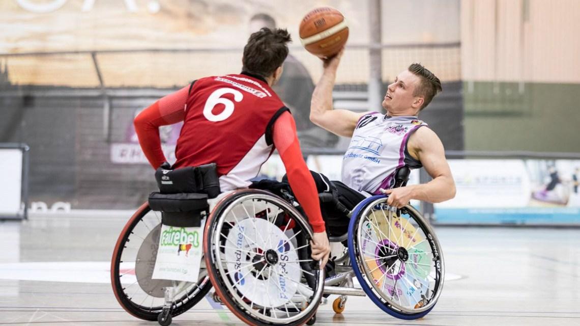 Phillip Schorp in Aktion im Heimspiel gegen die Roller Bulls ©2019 Steffie Wunderlich