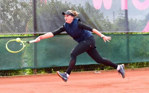 WTO 2019 | Finale der Wiesbadner Tennis Open, Katarina Zavatska trifft auf Barbora Krejcikova. ©2019 Volker Watschounek