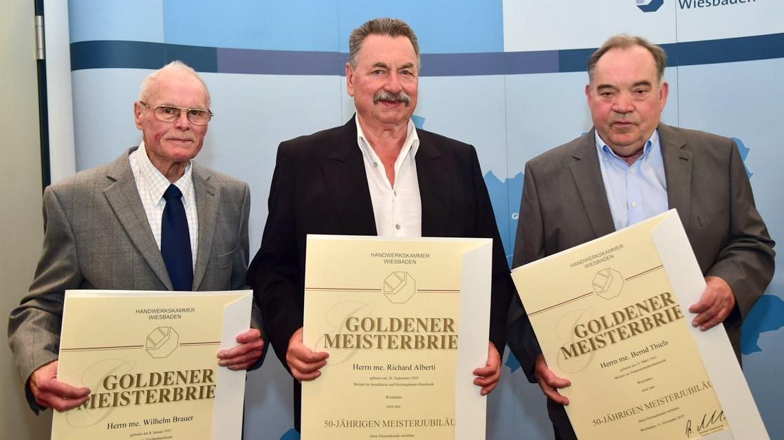 Silberne und Goldene Meisterbriefe für Wiesbadens Handwerker