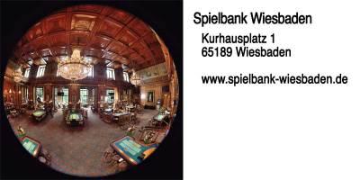 Eins, wenn nicht die schönste Spielbank in Deutschland: Die Spielbank Wiesbaden.