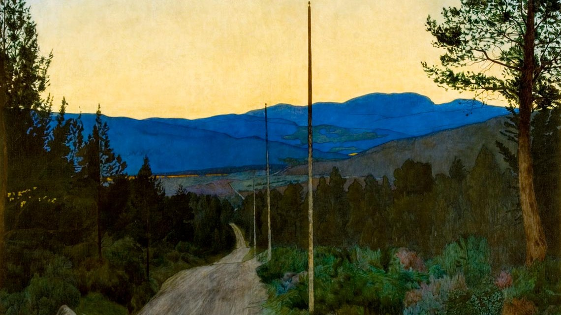 Harald Sohlberg Landstraße, 1905 Öl auf Leinwand, 95,5 x 110 cm Privatbesitz © Thomas Widerberg