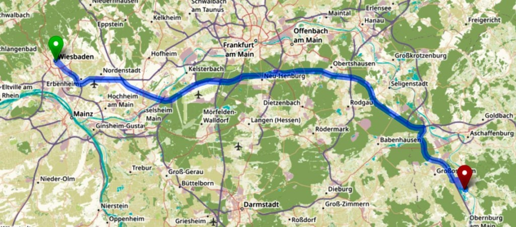 Karte, Wiesbaden Niedernberg.