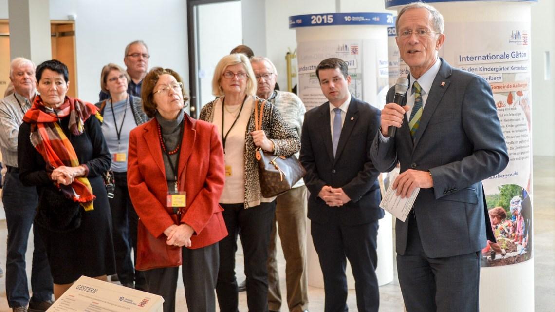 Hessischer Demografie Preis, Ausstellung im Landtag