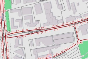 Mainzer Straße in Wiesbaden ©2019 Openstreetmap