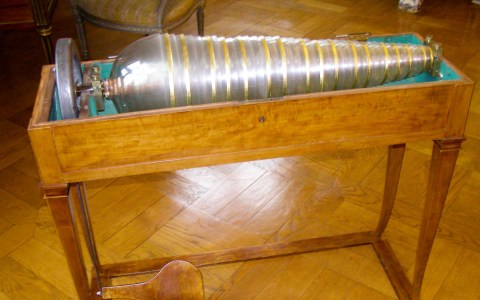 Glasharmonika, Museum Unterlinden, Colmar, Wikimedia