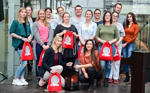 Kick-Off zur Nighingalke Challenge im JoHo Wiesbaden.