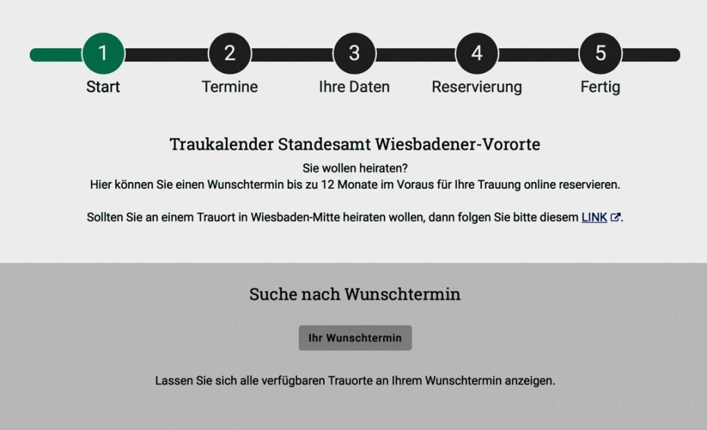 Trautermine und Trauorte finden. ©2019 Wiesbaden