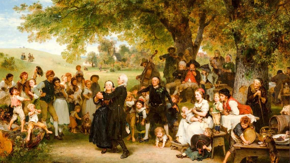 Ludwig Knaus, Die Goldene Hochzeit, 1859. Grohmann Museum at Milwaukee School of Engineering. Foto: Grohmann Museum