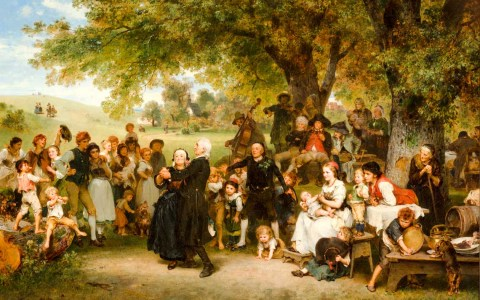 Ludwig Knaus, Die Goldene Hochzeit, 1859. Grohmann Museum at Milwaukee School of Engineering. Foto: Grohmann Museum