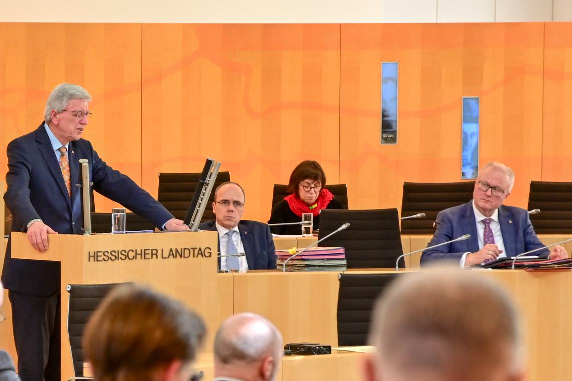 Ministerpräsident Volker Bouffier, Innenminister Peter Beuth, Finazminister Dr, Thomas Schäfer