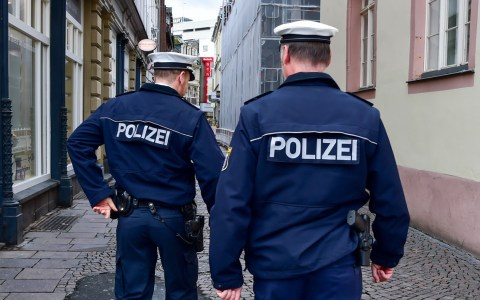 Polizeistreife in Wiesbaden