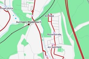 Bahnhof Auringen-Medenbach ©2020 Openstreetmap