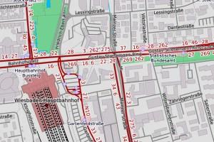 Gustav-Stresemann-Ring gesperrt ©2020 Openstreetmap