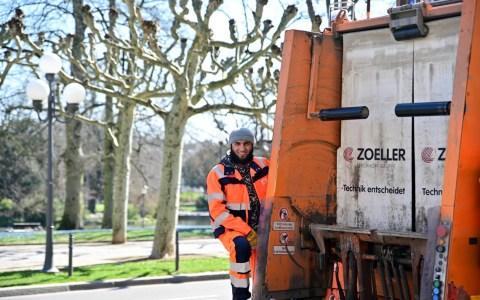 Müllentsorgung der ELW an Pfingsten