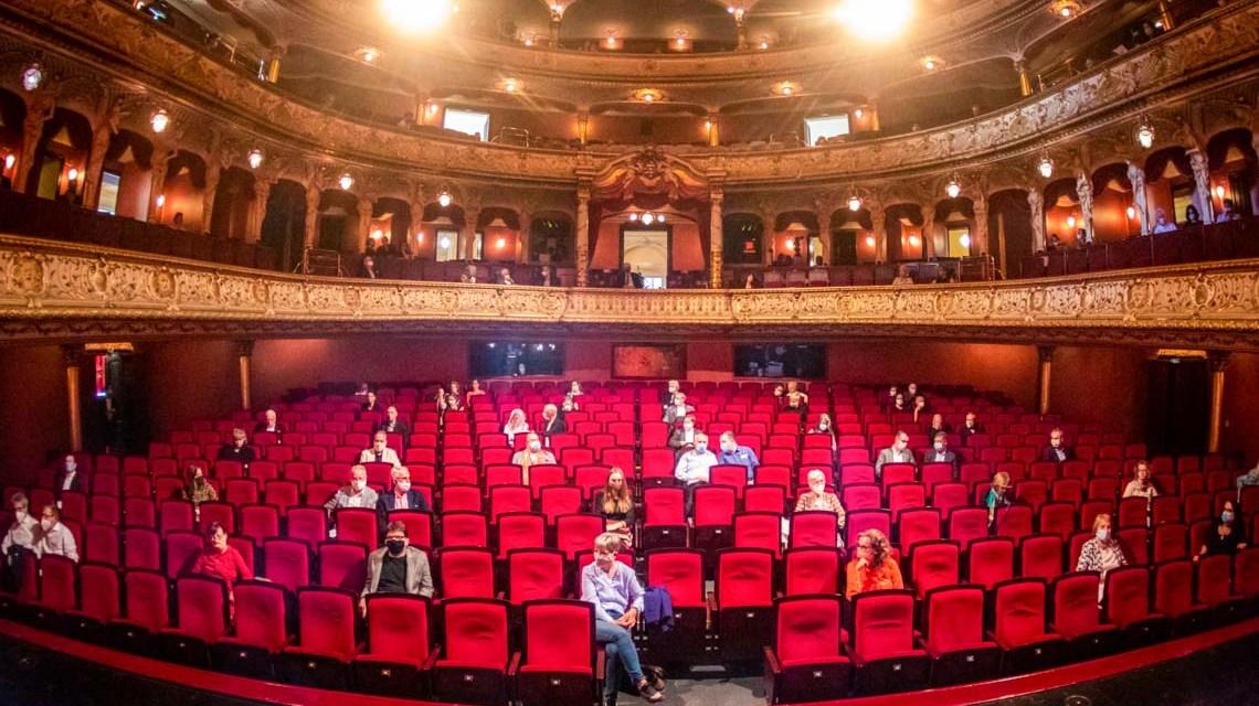 Erste Vorstellung im Staatstheater Wiesbaden nach Corona-Lockdown. ©2020 Jeremias Sand