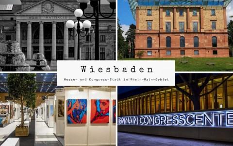 Messe- und Kongress Stdat Bildkomposition Wiesbaden lebt! Ralf Brinkmann (o.l.),Hyp Yerlikaya (u.l), Wikipedia (o.r.), Wiesbaden lebt (u.r.)