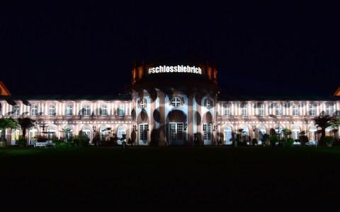 #wiesbadenleuchtet, am 25. Mai iluminierte die Agentur audiluma das Bierbicher Schloss.