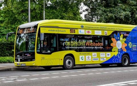 Ökoprofit Wiesbaden und Elektrobus, nichts passt besser ©2020 Mark Burggraf