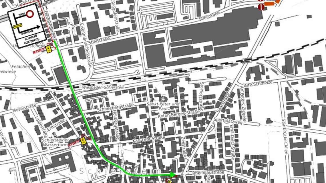 Saarstraße – Einschränkungen im Busverkehr