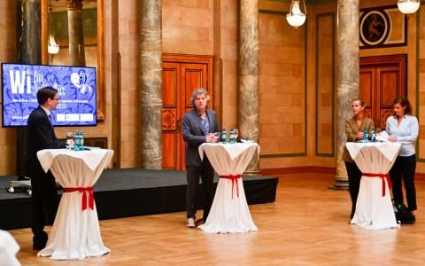 Pressekonferenz WI für Kultur. Dr. Oliver Franz imd Michael Stein.