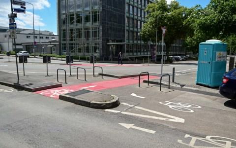 Lessingstraße wird sicherer für den Radverkehr