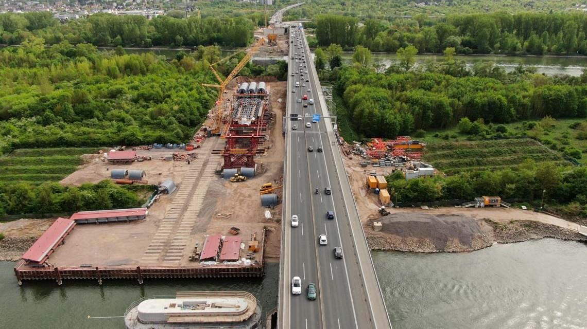 Schiersteiner Brücke Anschlussstelle Mombach ©2020 hessen mobil