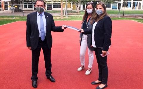 5.000 Euro für neue Sportanlage an der Otto-Stückrath-Schule
