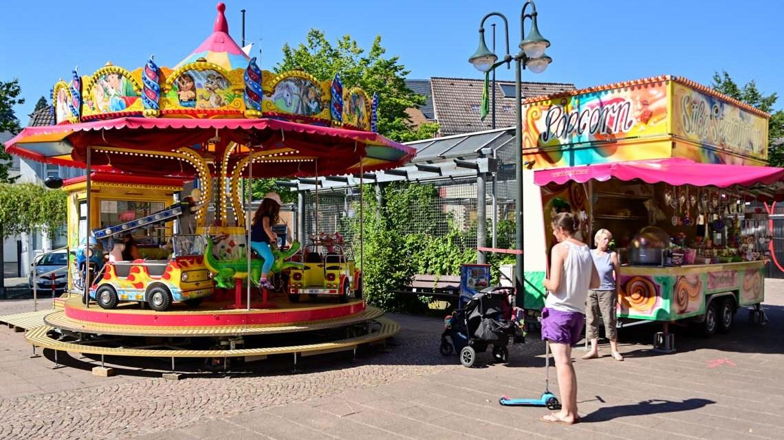 Schausteller auf dem Luja Platz