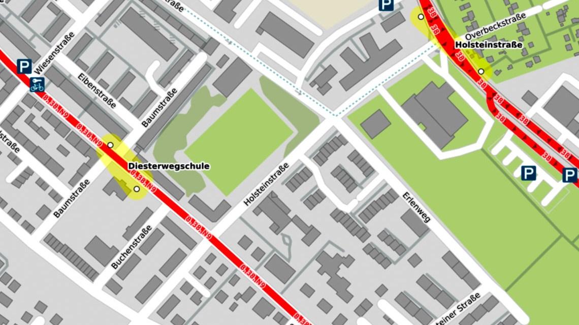 Baustellen, Holsteinstraße gesperrt