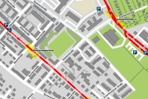 Holsteinstraße gesperrt