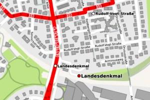 Simrockstraße Wiesbaden ©Openstreetmap