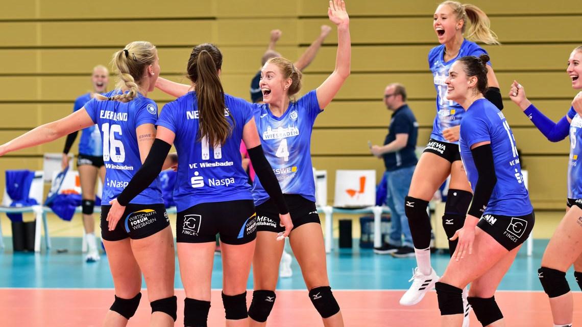 VC Wiesbaden - Ladies in Black, 3:2