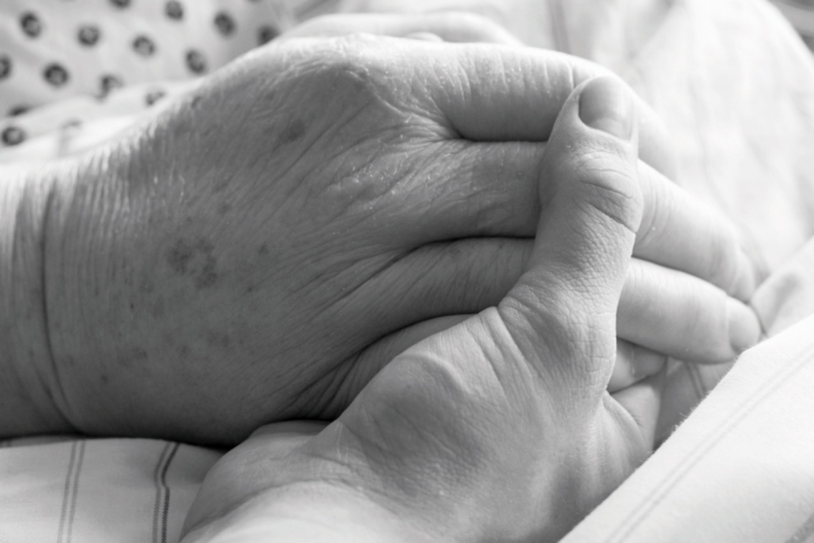 Hand halten @2020 Sankt Josefs Hospital