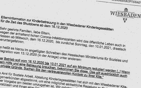 Informationen zur Kinderbetreuung in den Wiesbadener Kitas ab Mittwoch