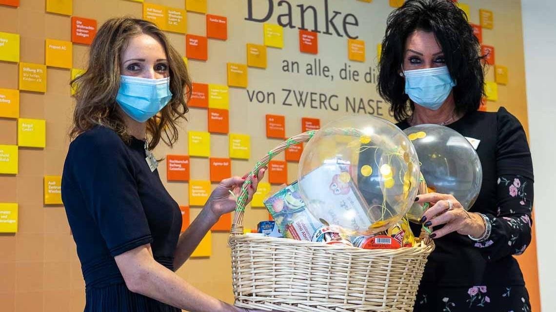 GWH: Spendenübergabe Zwerg Nase