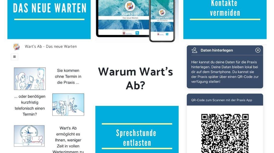 """Vom Land geförderte App """"Wart's Ab"""" ermöglicht Wartezeit außerhalb der Praxen"""