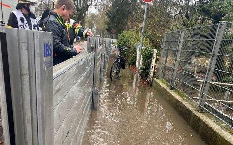 Regenfälle im Stadtgebiet lassen Bachpegel ansteigen