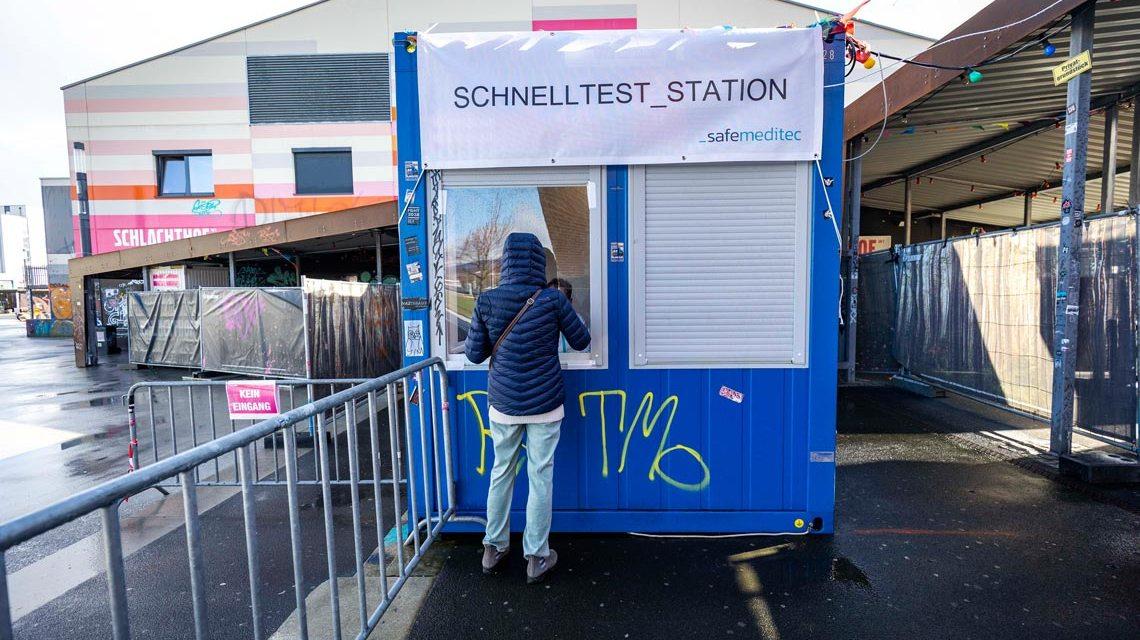 Schnelltestcenter in Wiesbaden eröffnet - Testcenter am Schlachthof -